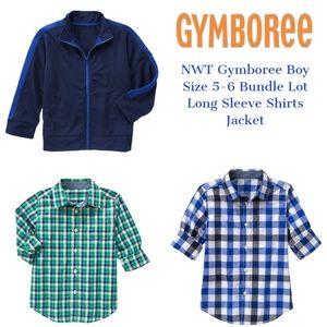 Gymboree Boy Shirt Long Sleeve Jacket Bundle Lot 5